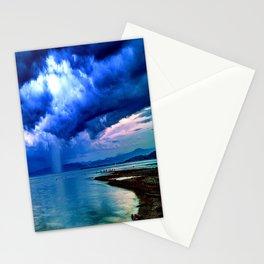 Majestic Rain Pink Lightning Stationery Cards