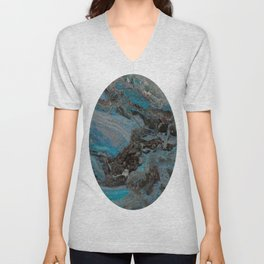 Marble, it is cool, aloof and especially elegant Unisex V-Neck