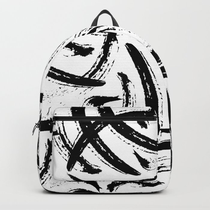 Isobel - Black and white minimal modern urban city brooklyn abstract painting art design hipster Backpack