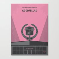 goodfellas Canvas Prints featuring No549 My Goodfellas minimal movie poster by Chungkong