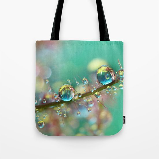 Smokey Rainbow Drops Tote Bag