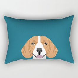 Lenon - Beagle gifts for pet owners and dog person with a beagle Rectangular Pillow