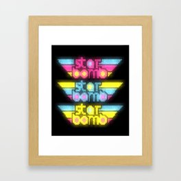 STARBOMB PIXEL ART Framed Art Print