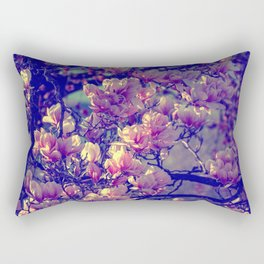 Magnolia flowers design in the garden of spring Rectangular Pillow