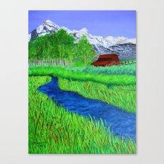 Grand-Teton barn Canvas Print