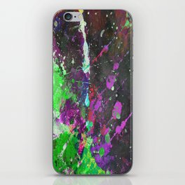 Breakthrough - Multi Coloured Abstract Textured Painting iPhone Skin