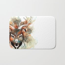 Deer- color brown Bath Mat