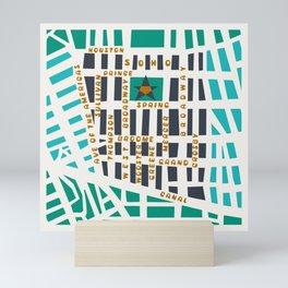 SOHO MAP NYC GREEN Mini Art Print