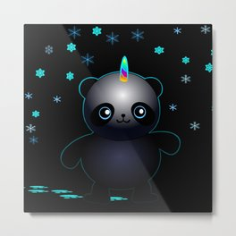 Glow in the Dark Pandacorn Metal Print