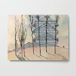 Pagoda Building Metal Print