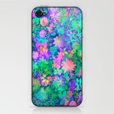 Fluro Floral iPhone & iPod Skin
