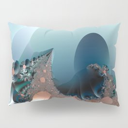 Hiding in a Fantasy Waterworld -- Fractal art by Twigisle at Society6 Pillow Sham