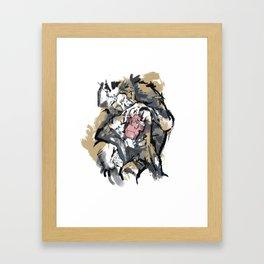 monkeys grooming Framed Art Print