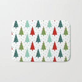 Christmas Tree holiday dots snow polka dot minimal modern geometric christmas decor design Bath Mat