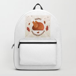 Turkey Time Thanksgiving Day Backpack