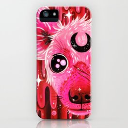 Pink Hyena iPhone Case
