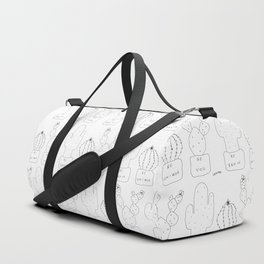 Cactus Illustration - Be Brave Be Unique Be You no.2 Duffle Bag