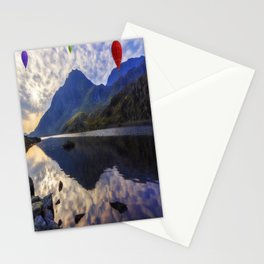 Balloon Flight At Sunrise Stationery Cards
