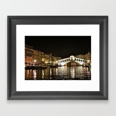 Rialto Bridge Framed Art Print