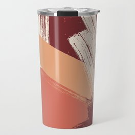 Peach Pumpkin Beige Abstract Illustration in pastel colors-1, Travel Mug