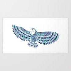 Barn Owl Beaut Art Print