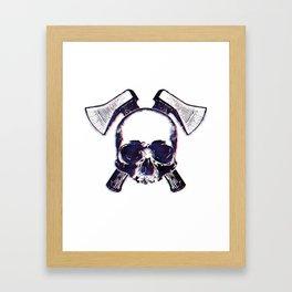 Axe Skull Framed Art Print