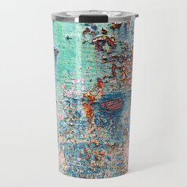 Abstract Rusty Metal Weathered Texture Travel Mug