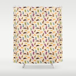 Animals pattern.  Аnteater&co Shower Curtain