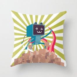 Go Go Mecha Kitty Throw Pillow