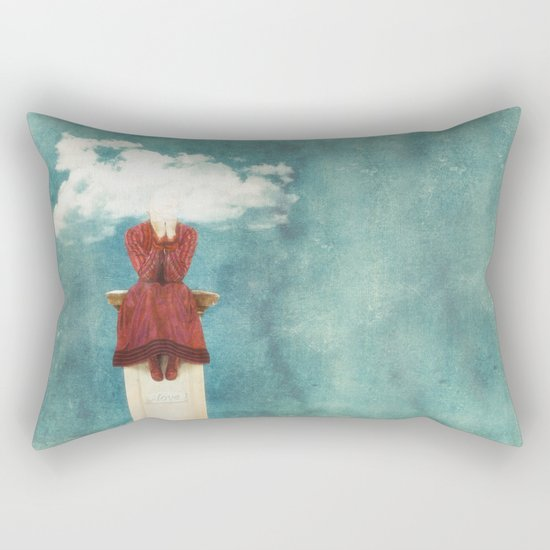 LOVE - Head in the Clouds Rectangular Pillow