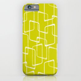 Lime Green Retro Geometric Pattern iPhone Case