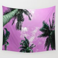 palm trees Wall Tapestries featuring Palm trees by Nicklas Gustafsson