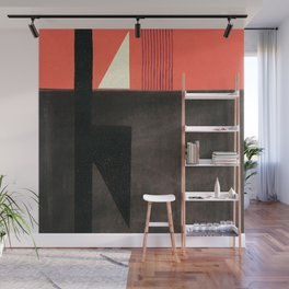 Solitaire du Figaro (red) Wall Mural