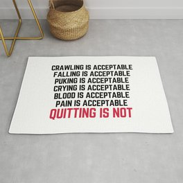 Crawling Is Acceptable Gym Quote Rug