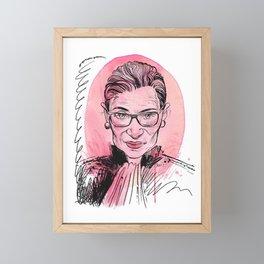 RGB rip Framed Mini Art Print