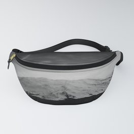 Mount Saint Helens Black and White Fanny Pack