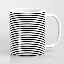 White Black Stripe Minimalist Coffee Mug