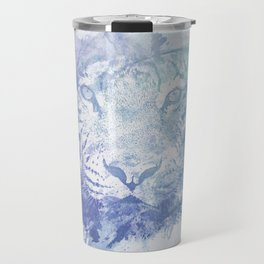 Abstract Watercolor Tiger Portrait / Face Travel Mug