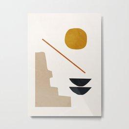abstract minimal 6 Metal Print