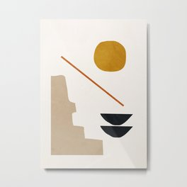abstract minimal 6 Metal Print
