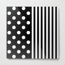 TEXTILES (BLACK-WHITE) Metal Print