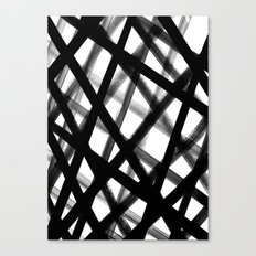 Criss Cross Black and White Canvas Print