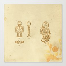 Lego Skeleton Canvas Print
