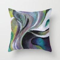 reassurance Throw Pillows featuring Art print- swirl by Magdalena Hristova