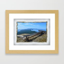 VIEW FROM TURTLEHEAD Framed Art Print
