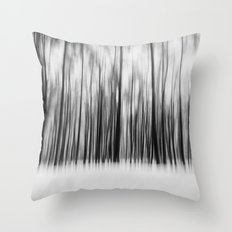 Trees | Black and White Throw Pillow