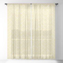 Summer in Paris - Sunny Yellow Geometric Minimalism Sheer Curtain