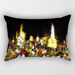 Light Show - Buildings at Night in New York City Rectangular Pillow