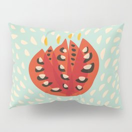 Red Abstract Tulip Pillow Sham