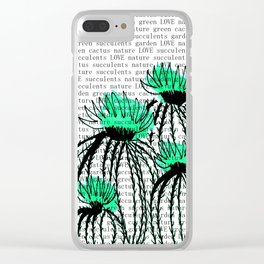 Cactus 77 green Clear iPhone Case